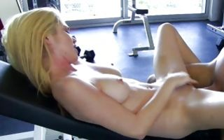 Watch my GF Tiffany nicely riding on powerful knob