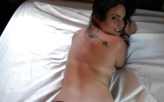 Slutty brunette girlfriend Cara Swank makes a dick wet and hard