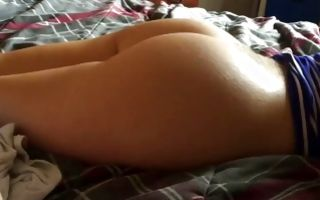 Sweet brunette GF with round ass riding on meaty rod