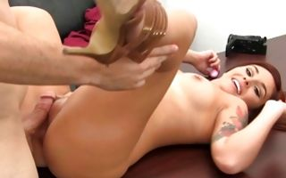 Sexy young girlfriend Keri insanely fucked in juicy ass hole