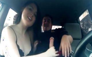 Naughty dark-haired girlfriend deeply sucking heavy pecker