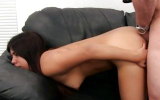 Innocent brunette ex-girlfriend Ayanna deeply fucked in cunt
