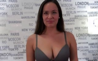 Fascinating brunette GF Katerina showing amazing body