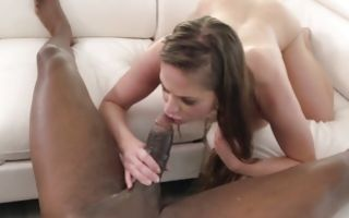 Huge black cock is slamming Cathy Heaven tight anal and mouth