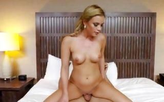 Astonishing light-haired girlfriend has rough sensual sex