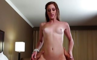 Casana Lei with small boobs riding his fat giant dick with passion
