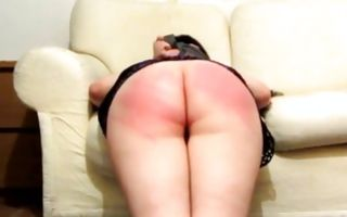 Brutal dude roughly spanking round butt of nasty Ex-GF