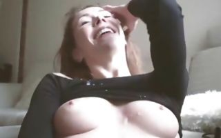 Bold dude pulls down her panties and starts sexually abusing her cunt