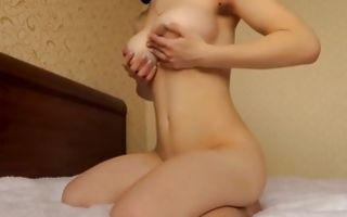 Teen naked cutie bends over and gets slammed with a dick