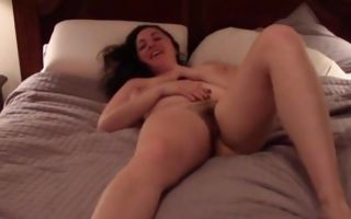 Naked couple having passionate sex on the bed and she blows cock
