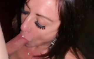 Sassy brunette getting her face fucked roughly