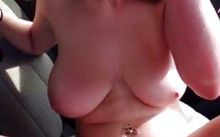 Nasty ex-girlfriend Brooke Wylde has deep sex in car