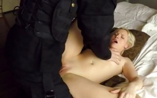 Hard sex with adorable Zazie Skymm and horny cop