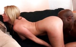 Impressive interracial sex with adorable blonde Ex-GF