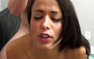 Horny amateur slut deeply fucked in juicy cum-hole