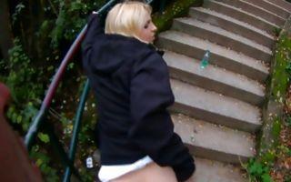 Kinky blonde gf Helen gets drilled in her vagina outdoor in xxx video