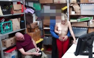 Charming blonde chick sucking dick of depraved cop